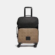 Image of Coach Australia JI/BLACK/KHAKI ACADEMY TRAVEL WHEELED CARRY ON IN SIGNATURE CANVAS