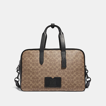 Image of Coach Australia  ACADEMY TRAVEL DUFFLE IN SIGNATURE CANVAS
