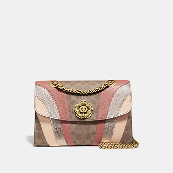 Image of Coach Australia  PARKER IN SIGNATURE CANVAS WITH WAVE PATCHWORK