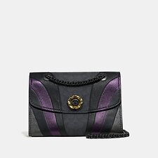 Image of Coach Australia V5/CHARCOAL MULTI PARKER IN SIGNATURE CANVAS WITH WAVE PATCHWORK