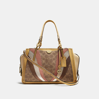 Image of Coach Australia  DREAMER IN SIGNATURE CANVAS WITH WAVE PATCHWORK