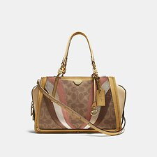 Image of Coach Australia B4/TAN MULTI DREAMER IN SIGNATURE CANVAS WITH WAVE PATCHWORK