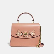 Image of Coach Australia B4/LIGHT PEACH PARKER TOP HANDLE WITH BUTTERFLY APPLIQUE