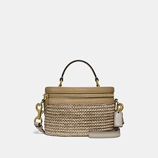 Image of Coach Australia B4/STRAW TAN MULTI TRAIL BAG IN COLORBLOCK