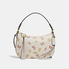 Image of Coach Australia GD/CHALK SUTTON CROSSBODY WITH BUTTERFLY PRINT