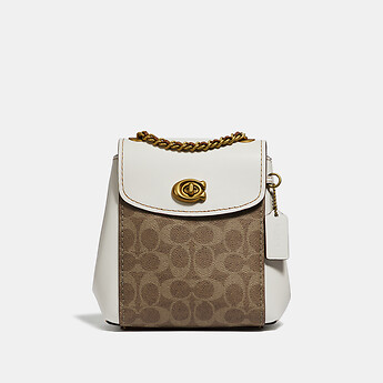 Image of Coach Australia  PARKER CONVERTIBLE BACKPACK 16 IN SIGNATURE CANVAS
