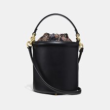 Image of Coach Australia GD/BLACK DRAWSTRING BUCKET BAG