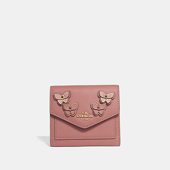 Image of Coach Australia  SMALL WALLET WITH BUTTERFLY APPLIQUE