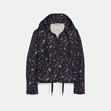 Image of Coach Australia NAVY DISNEY X COACH PRINTED WINDBREAKER