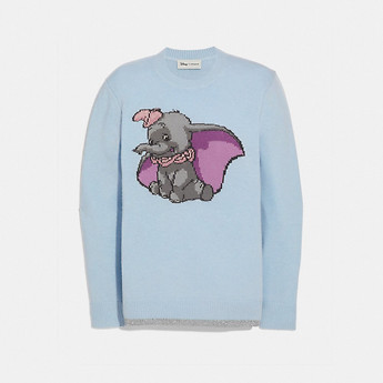 Image of Coach Australia  DISNEY X COACH DUMBO INTARSIA SWEATER