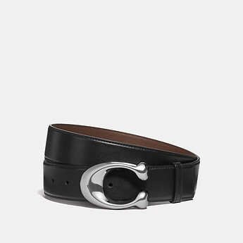 Image of Coach Australia  SIGNATURE CUT-TO-SIZE BELT