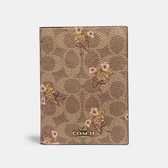 Image of Coach Australia  PASSPORT CASE IN SIGNATURE CANVAS WITH PRAIRIE PRINT