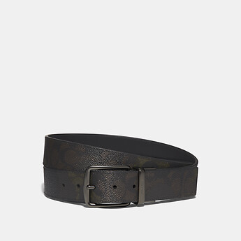 Image of Coach Australia  CUT-TO-SIZE REVERSIBLE BELT IN SIGNATURE CANVAS WITH WILD BEAST PRINT