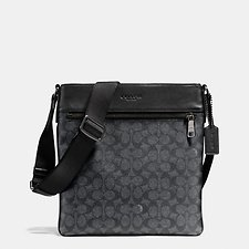 Image of Coach Australia QB/CHARCOAL BOWERY CROSSBODY IN SIGNATURE CANVAS