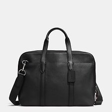 Image of Coach Australia QB/BLACK METROPOLITAN SOFT BRIEF IN PEBBLE LEATHER