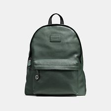 Image of Coach Australia QB/RACING GREEN CAMPUS BACKPACK IN PEBBLE LEATHER