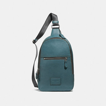Image of Coach Australia  CAMPUS PACK RIP AND REPAIR IN POLISHED PEBBLE LEATHER