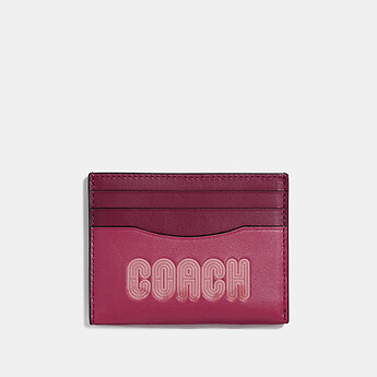 Image of Coach Australia  CARD CASE WITH COACH PRINT