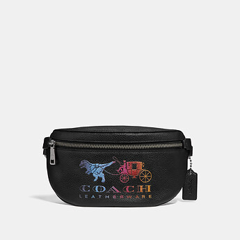 Image of Coach Australia  BELT BAG WITH REXY AND CARRIAGE