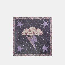 Image of Coach Australia DUSTY LAVENDER GLAM ROCK LAME BANDANA