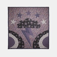 Image of Coach Australia DUSTY LAVENDER GLAM ROCK PATCHWORK OVERSIZED SQUARE SCARF