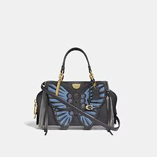 Image of Coach Australia B4/BLACK MULTI DREAMER 21 WITH WHIPSTITCH BUTTERFLY