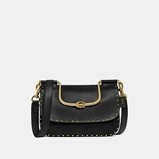 Image of Coach Australia B4/BLACK ELLIE CROSSBODY WITH RIVETS