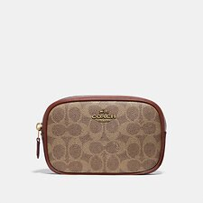 Image of Coach Australia B4/TAN RUST BELT BAG IN COLORBLOCK SIGNATURE CANVAS