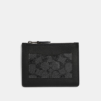 Image of Coach Australia  LARGE CARD CASE WITH SIGNATURE CANVAS BLOCKING
