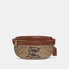 Image of Coach Australia B4/TAN RUST BELT BAG IN SIGNATURE CANVAS WITH REXY BY GUANG YU
