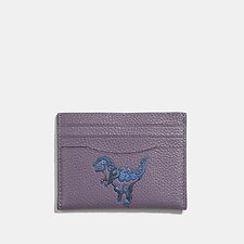 Image of Coach Australia V5/DUSTY LAVENDER CARD CASE WITH REXY BY ZHU JINGYI
