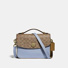 Image of Coach Australia B4/TAN MIST CASSIE CROSSBODY WITH SIGNATURE CANVAS BLOCKING