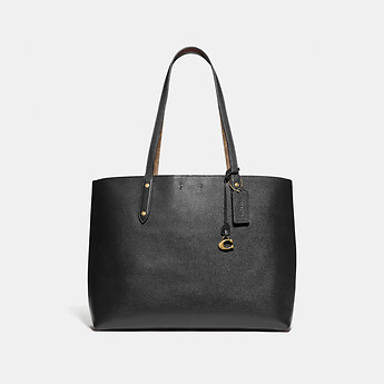 Image of Coach Australia  CENTRAL TOTE WITH SIGNATURE CANVAS BLOCKING