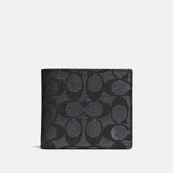 Image of Coach Australia  COIN WALLET IN SIGNATURE CANVAS
