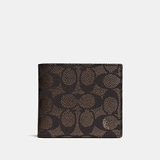 Image of Coach Australia MAHOGANY COIN WALLET IN SIGNATURE CANVAS