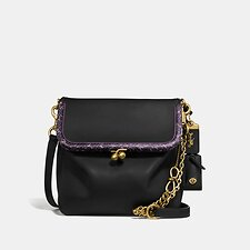Image of Coach Australia B4/BLACK RIDER BAG 24 WITH SNAKESKIN DETAIL