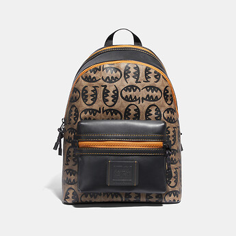 Image of Coach Australia  ACADEMY BACKPACK IN SIGNATURE CANVAS WITH REXY BY GUANG YU