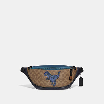 Image of Coach Australia  RIVINGTON BELT BAG IN SIGNATURE CANVAS WITH REXY BY ZHU JINGYI