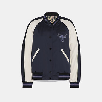 Image of Coach Australia  REXY BY ZHU JINGYI REVERSIBLE VARSITY JACKET
