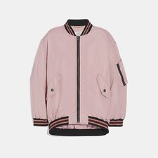 Image of Coach Australia PINK NYLON MA-1 JACKET