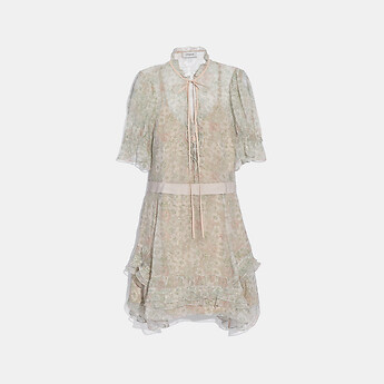 Image of Coach Australia  TIERED DRESS