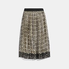 Image of Coach Australia SIG C METALLIC PLEATED SKIRT