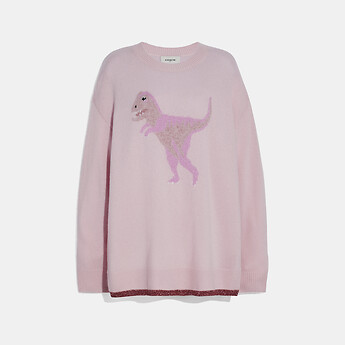 Image of Coach Australia  REXY CREW NECK INTARSIA SWEATER