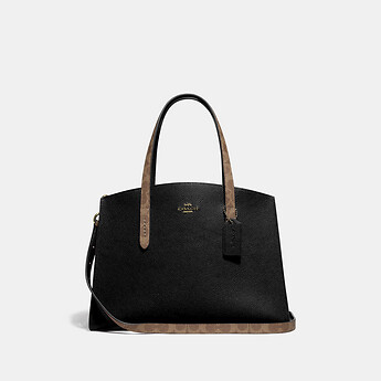 Image of Coach Australia  CHARLIE CARRYALL WITH SIGNATURE CANVAS BLOCKING