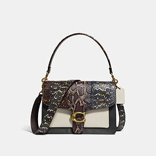 Image of Coach Australia B4/BLACK MULTI TABBY SHOULDER BAG IN SNAKESKIN