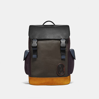 Image of Coach Australia  RIVINGTON BACKPACK IN COLORBLOCK WITH COACH PATCH