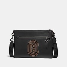 Image of Coach Australia JI/BLACK RIVINGTON MESSENGER WITH COACH PATCH
