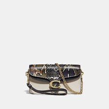 Image of Coach Australia B4/CHALK MULTI TABBY CROSSBODY WITH SNAKESKIN DETAIL
