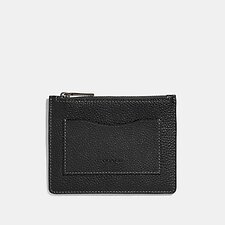 Image of Coach Australia BLACK/DARK HONEY LARGE CARD CASE