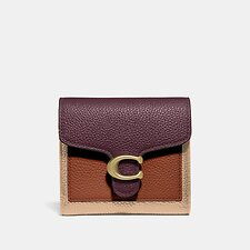 Image of Coach Australia B4/VINTAGE MAUVE MULTI TABBY SMALL WALLET IN COLORBLOCK